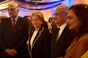 14 July 2016 Photo France osted by Ambassador of France H.E. Martine Dorance. Minister of Climate Change H.E. Zahid Hamid on her right and MNA Minister of State Chairperson Marvi Memon on my left.